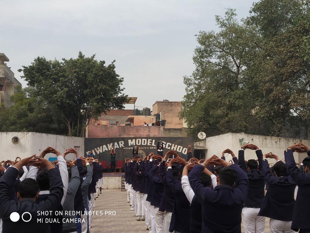 Yoga Performance At Diwaker Model School